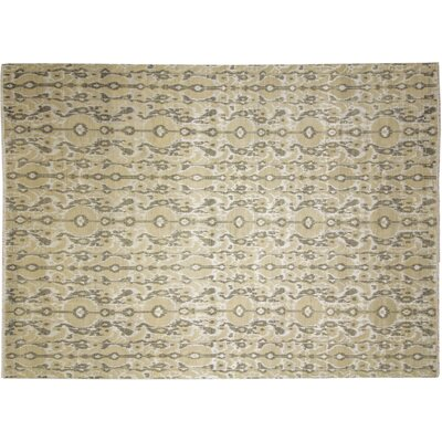 Fine Ikat Marouane Hand-Knotted Beige Area Rug