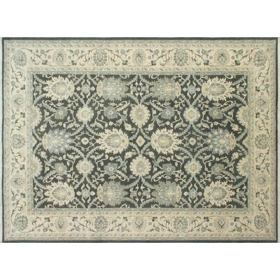 One-of-a-Kind Chobi Fine Badee Hand-Knotted Gray Area Rug