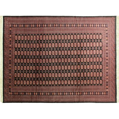 One-of-a-Kind Bokara Fine Otabek Hand-Knotted Black Area Rug