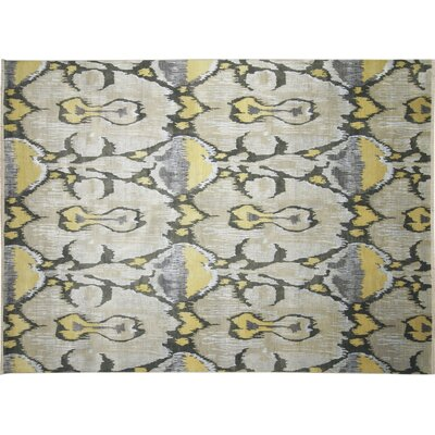One-of-a-Kind Fine Ikat Sam Hand-Knotted Beige Area Rug
