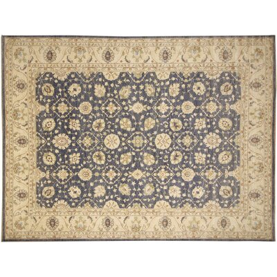 Leann Faded Hand-Knotted Gray Area Rug