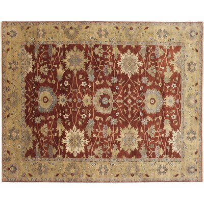 Mahal Fine Zareen Hand-Knotted Rust Area Rug