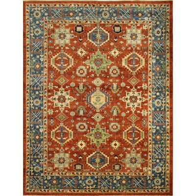 One-of-a-Kind Chobi Fine Souzan Hand-Knotted Rust Area Rug