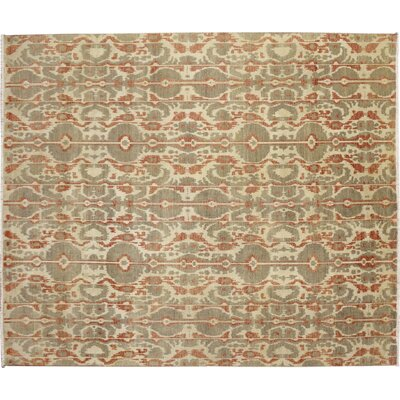 One-of-a-Kind Fine Ikat Meryem Hand-Knotted Beige Area Rug