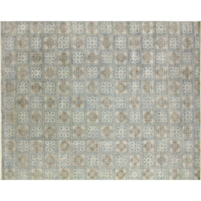 Bellview Hand-Knotted Rectangle Light Blue Area Rug