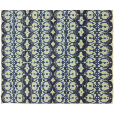 Bellview Hand-Knotted Blue/Black Area Rug