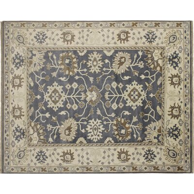 Oushak Fine Cyrus Hand-Knotted Gray Area Rug