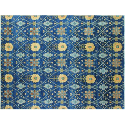 One-of-a-Kind Chobi Fine Balziya Hand-Knotted Blue Area Rug
