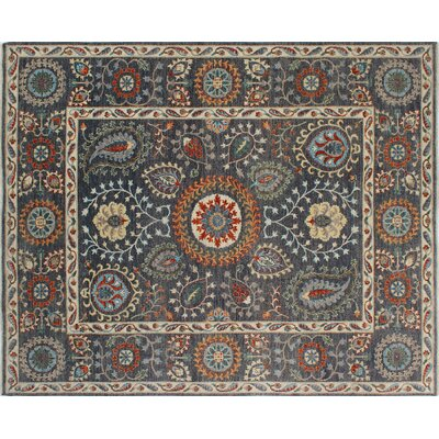 One-of-a-Kind Chobi Fine Nurbike Hand-Knotted Gray Area Rug