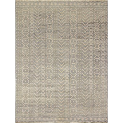 One-of-a-Kind Bellview Hand-Knotted Gray/Green Area Rug