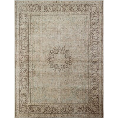 One-of-a-Kind Fine Distressed Baith Hand-Knotted Gray Area Rug