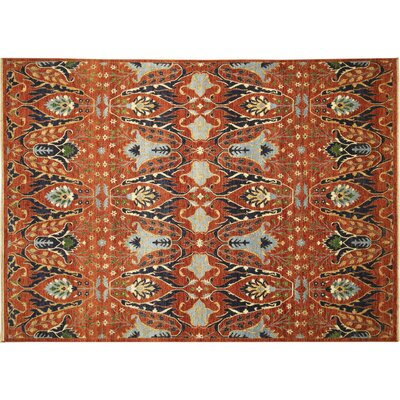 One-of-a-Kind Choubi Fine Ilhom Hand-Knotted Rust Area Rug