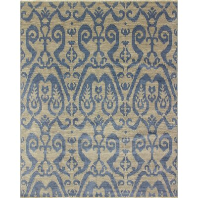 One-of-a-Kind Bellview Rectangle Hand-Knotted Gray/Blue Area Rug