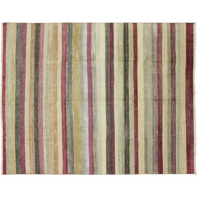 Grass Fine Jahan Hand-Knotted Red Area Rug