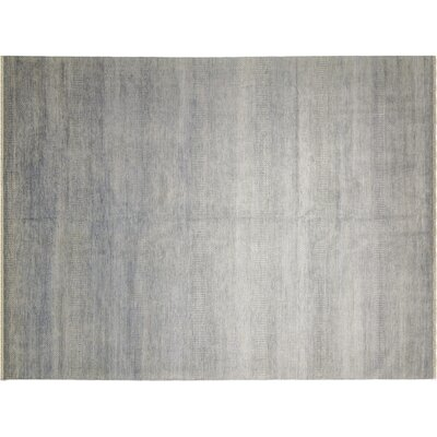 One-of-a-Kind Grass Fine Walid Hand-Knotted Gray Area Rug