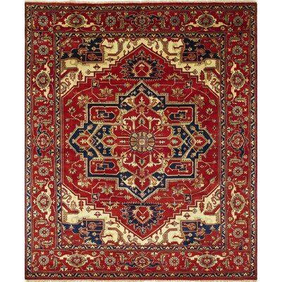 One-of-a-Kind Heriz Fine Raisa Hand-Knotted Rust Area Rug