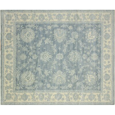 One-of-a-Kind Bellview Rectangle Hand-Knotted Blue Area Rug