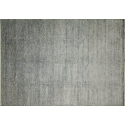 Grass Fine Minz Hand-Knotted Blue Area Rug