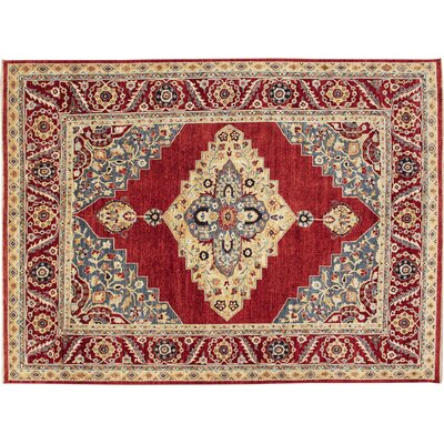 One-of-a-Kind Choubi Fine Maha Hand-Knotted Rust Area Rug