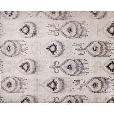 One-of-a-Kind Bellview Ikat Hand-Knotted Ivory Area Rug