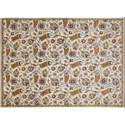 Choubi Fine Xerxes Hand-Knotted Ivory Area Rug