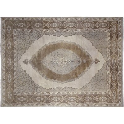 One-of-a-Kind Bellview Hand-Knotted Rectangle Wool Beige Area Rug
