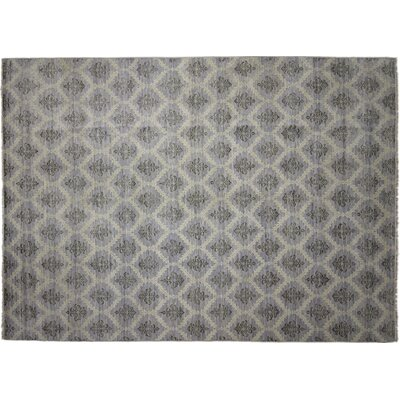 Bellview Oriental Hand-Knotted Wool Blue Area Rug