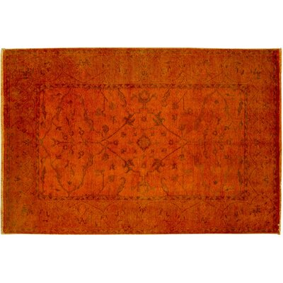 Bellview Hand-Knotted Orange Area Rug