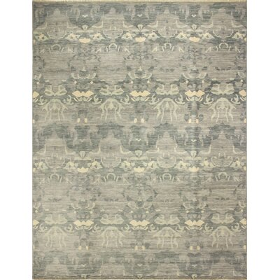 One-of-a-Kind Bellview Hand-Knotted Oriental Premium Wool Gray Area Rug