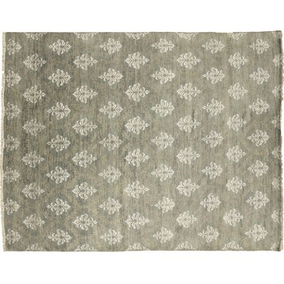 Bellview Oriental Hand-Knotted Rectangle Wool Gray Area Rug