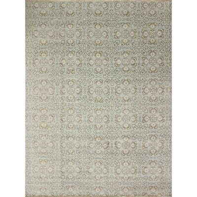 Bellview Loom Hand-Knotted Light Blue Area Rug