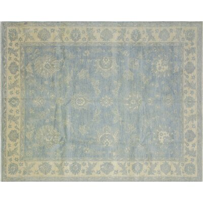 One-of-a-Kind Bellview Hand-Knotted Wool Light Blue Area Rug
