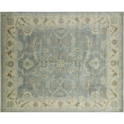 One-of-a-Kind Bellview Hand-Knotted Oriental Rectangle Gray Area Rug