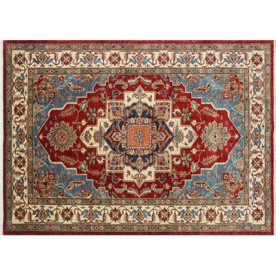 Kazak Super Anam Hand-Knotted Red Area Rug