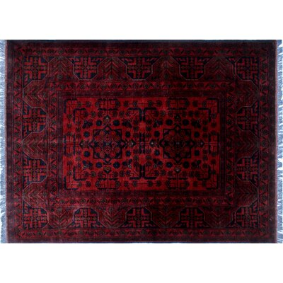 One-of-a-Kind Alban Hand-Knotted Rectangle Shape Red Area Rug