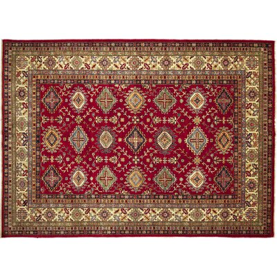 One-of-a-Kind Kazak Super Nada Hand-Knotted Red Area Rug M839