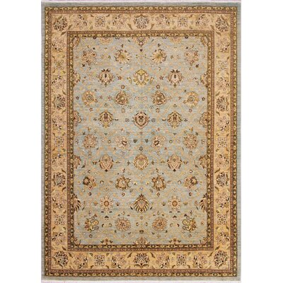 One-of-a-Kind Leann Hand-Knotted Light Blue Indoor Area Rug
