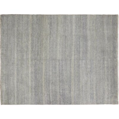One-of-a-Kind Grass Super Fine Sabina Hand-Knotted Blue Area Rug