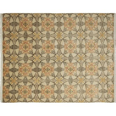 One-of-a-Kind Lauterbach Hand-Knotted Ivory Area Rug