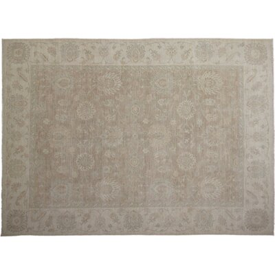 Leann Hand-Knotted Oriental Brown Wool Area Rug