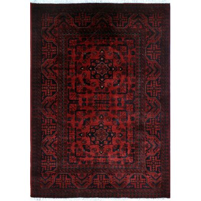 Alban Luxury Hand-Knotted Red Indoor Area Rug