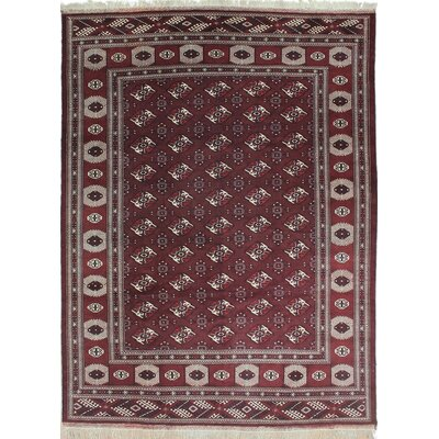 One-of-a-Kind Yamod Rime Hand-Woven Red Area Rug