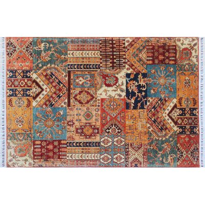 Acer Hand-Knotted Rust Premium Wool Area Rug