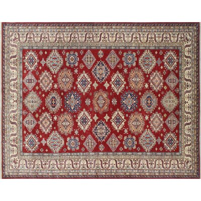Kazak Super Adiy Hand-Knotted Red Area Rug