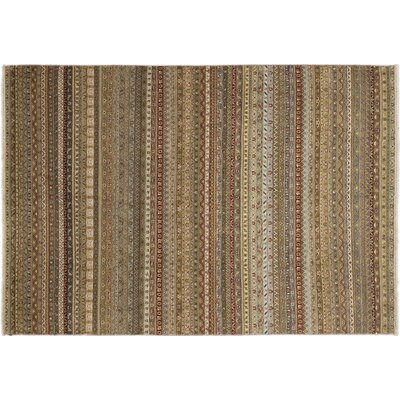 Shawl Roxie Hand-Knotted Brown Area Rug