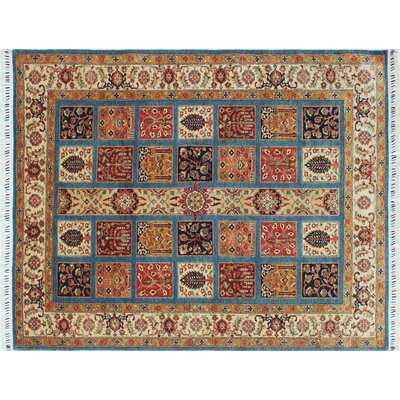 One-of-a-Kind Acer Hand-Knotted Blue Wool Area Rug