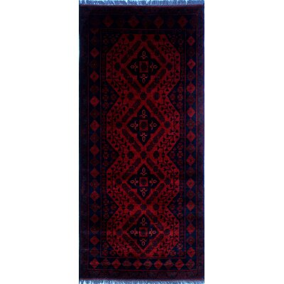 Alban Hand-Knotted Construction Red Area Rug