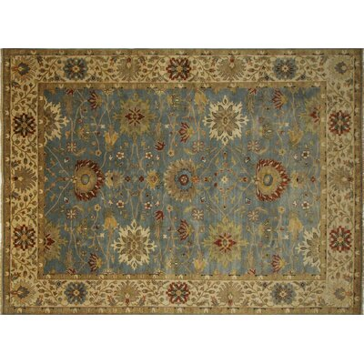 Mahal Tariq Hand-Knotted Gray/Blue Area Rug