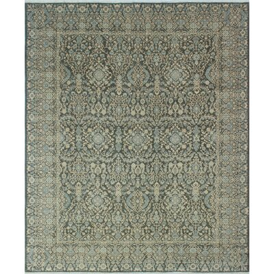 Bridgette Hand-Knotted Charcoal Area Rug