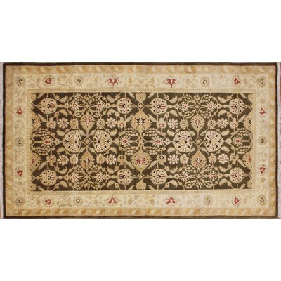Leann Hand-Knotted Chocolate Premium Wool Area Rug
